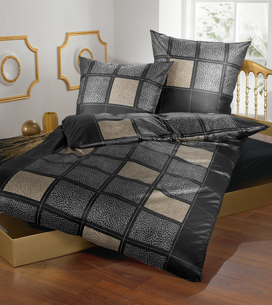 brennet mako satin bettw sche leo 135x200 155x220 200x200. Black Bedroom Furniture Sets. Home Design Ideas