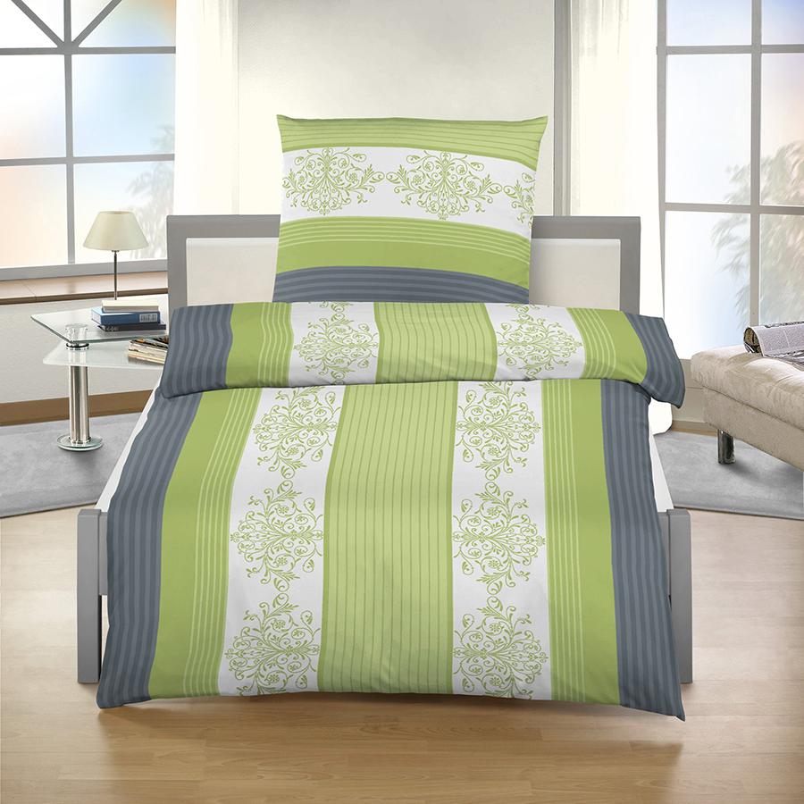 ido dobnig biber bettw sche 135x200 80x80 cm in gr n anthrazit. Black Bedroom Furniture Sets. Home Design Ideas