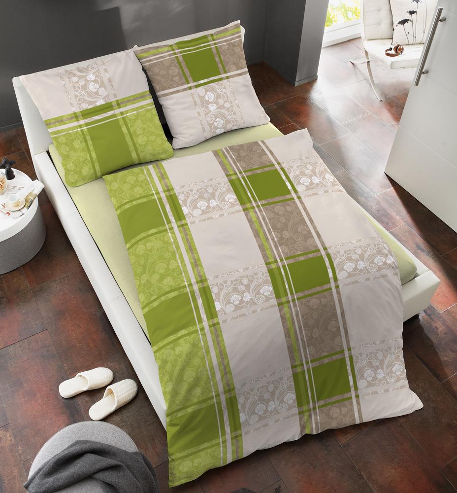 fein biber wende bettw sche von dormisette 135x200 oder 155x220 in gr n ebay. Black Bedroom Furniture Sets. Home Design Ideas