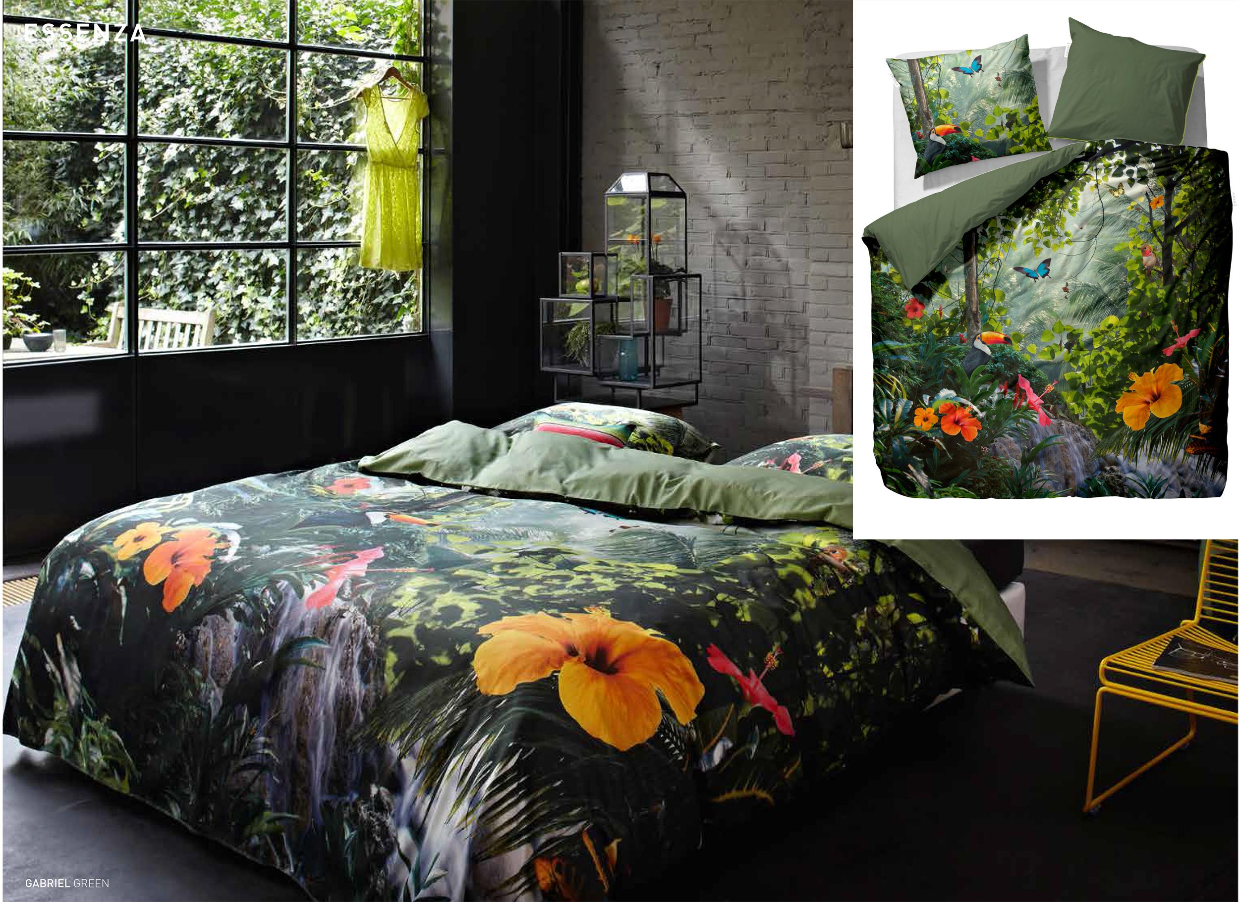 essenza bettw sche garnitur mako satin gabriel 135x200. Black Bedroom Furniture Sets. Home Design Ideas